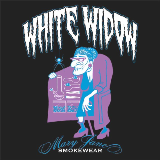 white widow cannabis ganja joint cypress hill weed mary jane smokewear granny